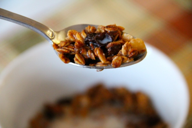Pumpkin Granola with Walnuts & Raisins