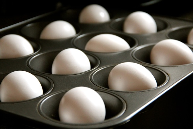 Hard-Cooked Eggs in a Muffin Pan