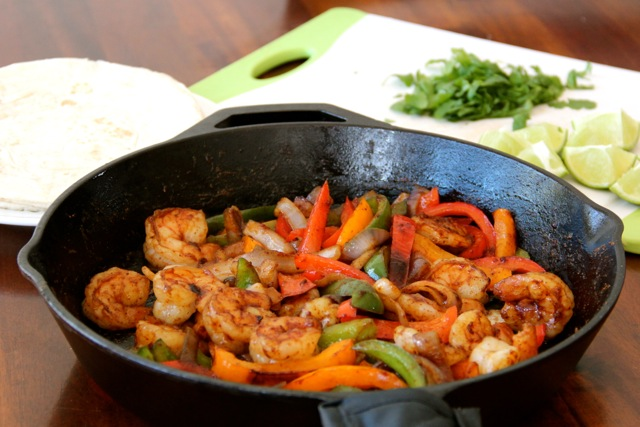 Shrimp Fajitas With Homemade Fajita Seasoning