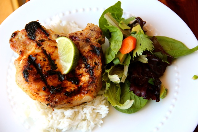 Lemongrass Grilled Pork Chops