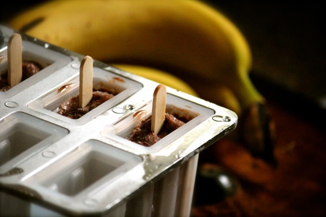 Banana Fudge Popsicles