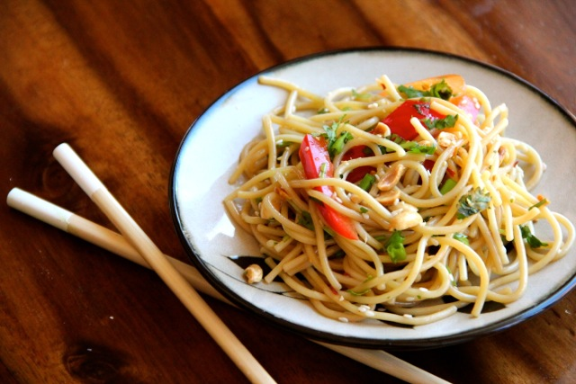 Cold Asian Noodle Salad - Alaska from Scratch