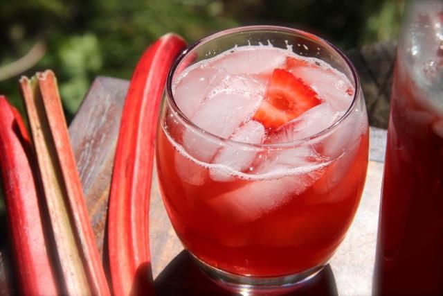 Strawberry Rhubarb Lemonade via Alaska from Scratch