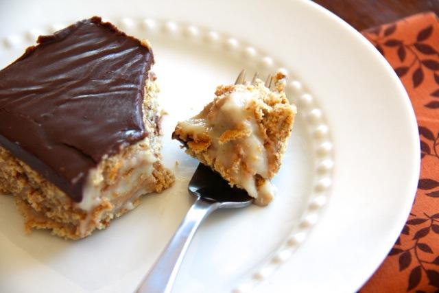 Boston Cream Pie Ice Box Cake via Alaska from Scratch