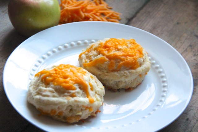 Cheddar Apple Buttermilk Biscuits via Alaska from Scratch