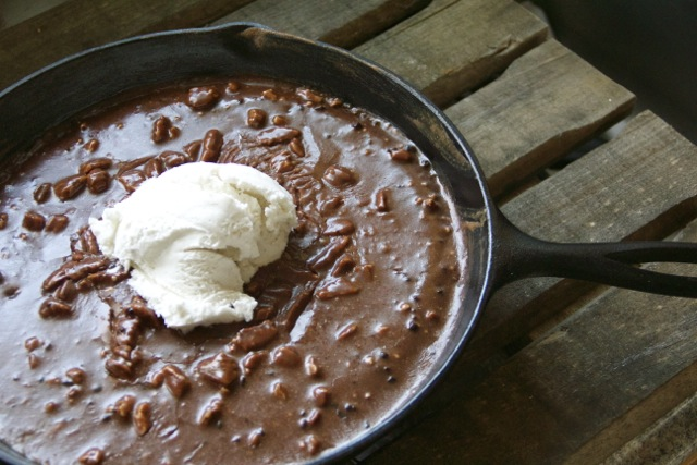 Gooey Chocolate Skillet Cake via Alaska from Scratch