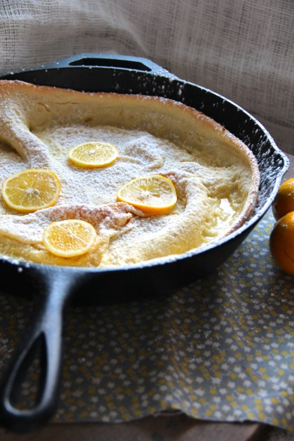 Meyer Lemon Dutch Baby Pancake