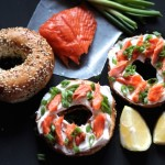 Smoked Salmon Bagel with Green Onions