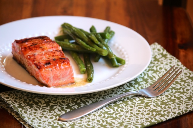 Honey Glazed Salmon with Brown Butter Lime Sauce via Alaska from Scratch