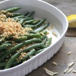 Green Beans with Lemon Breadcrumbs & Almonds