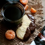 Chocolate-Dipped Almond & Orange Shortbread
