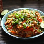 Ginger Peanut Hoisin Noodles with Chicken