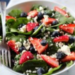 Strawberry Spinach Salad with Blueberry & Feta