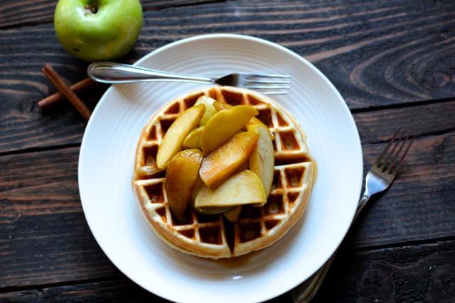 Sauteed cider apples
