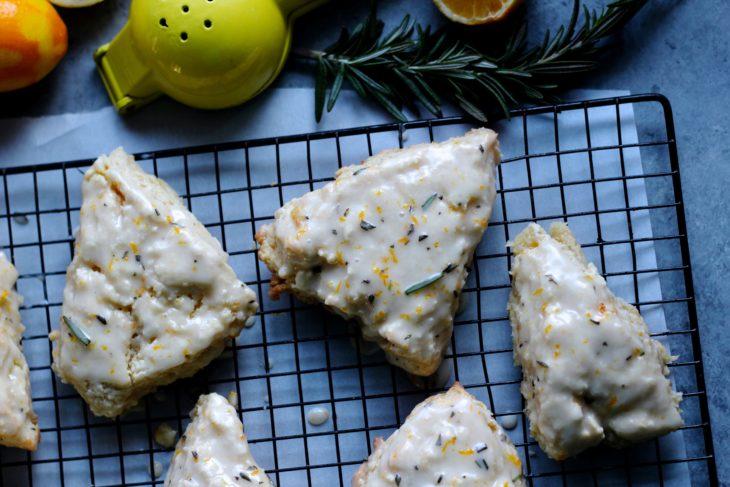 Lemon Rosemary Scones